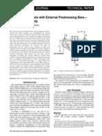 Behavior of Corbels With External Prestressing Bars_Experimental Study