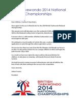 British Takewondo 2014 National Championships