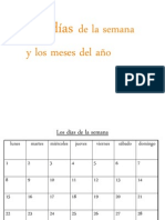Days, Months, Seasons, Weather in Spanish ppt