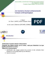 Jean Gayon - Amélioration humaine (human enhancement)