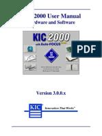 KIC 2000 v3000 User Manual
