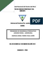 Informe Practivas Sierra Agrorural