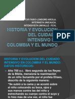 Historia y Evolucion Del Cuidado Intensivo en Colombia