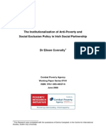 2007 01 WP TheInstitutionalisationOfAnti PovertyAndSocialExclusionPolicyInIrishSocialPartnership
