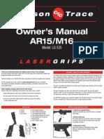 Crimsontrace Ar15-m16 Manual LAZER SIGHT