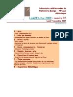LAMPEA-Doc 2009 – numéro 37 / Lundi 9 novembre 2009