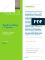 Resolving Client Complaints