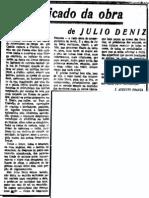 O significado da obra de Julio Deniz