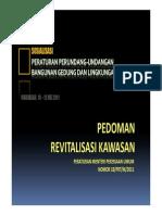 Bahan Tayangan Pedoman Revitalisasi Kawasan (Permen PU N0. 18/PRT/M/2011)