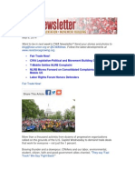 CWA Newsletter, Thursday, May 8, 2014