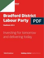 Bradford District Labour Manifesto 2014
