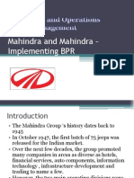 Mahindra and MBPRahindra – Implementing BPR