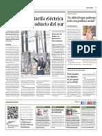 Subirá Más Tarifa Eléctrica Para Pagar Gasoducto Del Sur_Gestión 9-05-2014