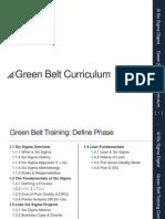 Lean Six Sigma Green Belt Curriculum