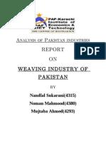 Analysis of Pakistan Industries Project Warriors