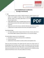 Corporate Establishment in Indonesia (Foreign Investment)