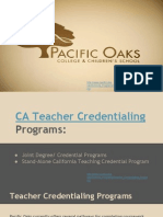 CA Teacher Credentialing - Pacific Oaks College