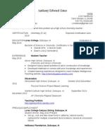 gates teaching resume