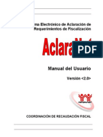 Manual Usuario ACLARANET