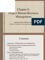 76443048 Pmbok Chapter 8 Hrm