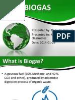 Biogas Presentation 2014