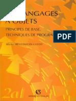 Les Langages à Objets - Principes de Base,Techniques de Programmation