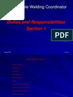 Responsible Welding Coordinator