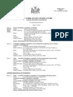 Public Hearing Calendar - May 9, 2014