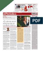 ''El Cáncer Es El Síntoma de Un Conflicto Íntimo'' (El Periodico 07-10-2008)