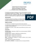Edital Propex 03-2014 Pibic Cnpq-ufcg