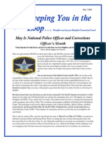 Keeping You in the Loop 5 7 2014 National Police Officer's Month
