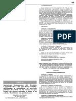 Ds 007-2014-Sa Reglamento Dl 1156, Servicio de Salud Por Riezgo o Daño a La Vida