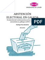 ABSTENCIÓN ELECTORAL EN GALICIA