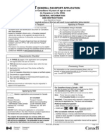 Adult General Passport Application