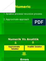 Analisa Galat (Numeric)