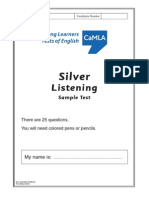 Silver Listening Sample Test