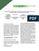 Présentation d'Une Approche Efficace Pour l'Étude Des Surtensions à Front Rapide Par Des Méthodes Statistiques - Son Application à Des Cas Pratiques
