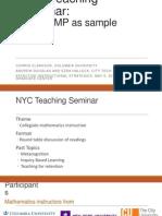 CUNY Math_Teaching Seminar_Ezra Halleck