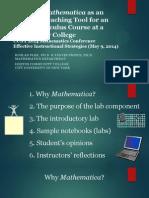 CUNY Math_Use of Mathematica Software_Ruslan Flek
