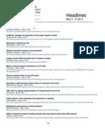 CCA Headlines May 5 - 9, 2014