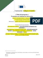 ANEXO a Formulario de Solicitud de Subvención 2014