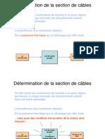 1- Determination de La Section de Cables