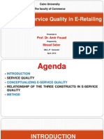 Measuring Service Quality of E-Retailing