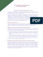 Secteur Marocain Des Assurances.faits Marquants 2011