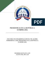 DISCURSO OFICIAL juramentación 2008