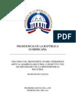 DISCURSO OFICIAL rendición de cuentas 2012
