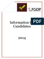 Information for Candidates 2014