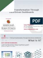 Data-driven Dashboards