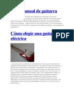 Mini Manual de Guitarra