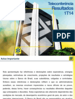 Banco do Brasil - 1T14 Teleconferência